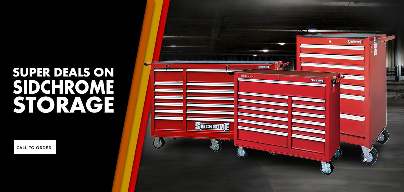 WORKBENCH WAREHOUSE Sidchrome Toolboxes Banner